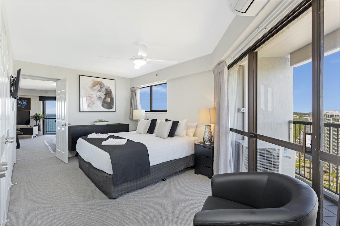 2 bedroom superior master bedroom view